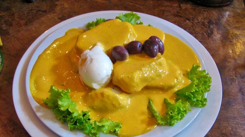 Peru Yemeği, Papa a ala huancaina